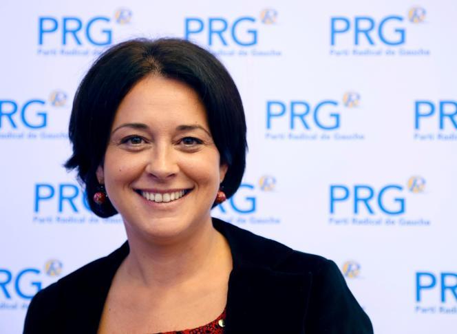 Sylvia Pinel, candidate (PRG) à la primaire à gauche, le 26 novembre 2016.