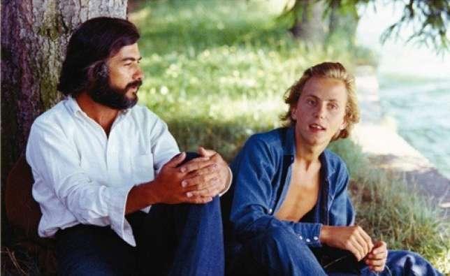 Jean-Claude Brialy et Fabrice Luchini, au bord du lac d'Annecy, dans «Le Genou de Claire».