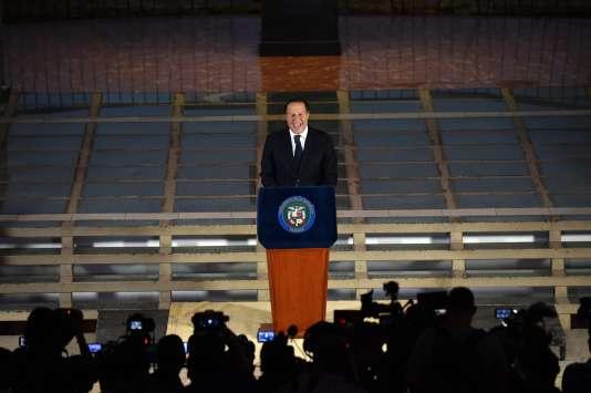 Le président panaméen Juan Carlos Varela s'exprime au palais Bolivar de Panama City après les Panama Papers, le 6 avril.