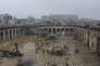 La Grande Mosquée d'Alep, reprise par les loyalistes, sur une photo de l'agence de presse du régime Assad.
