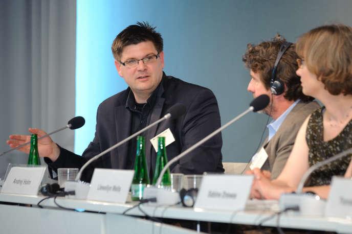 Le nouveau secrétaire d'Etat au logement du gouvernement berlinois, Andrej Holm, le 27 mai 2011