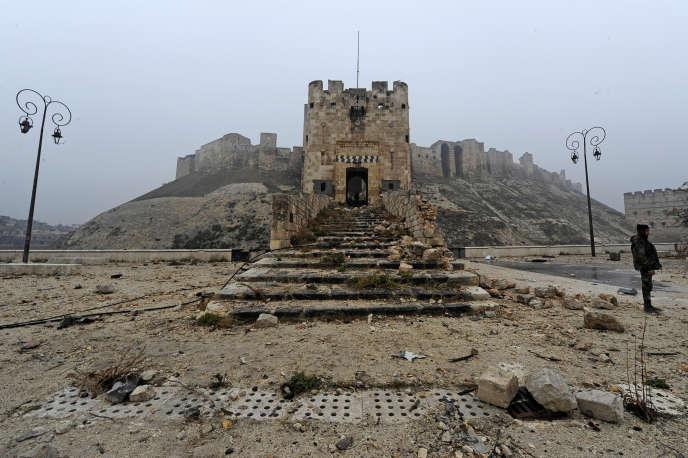 L'entrée de la citadelle d'Alep , le 13 décembre.