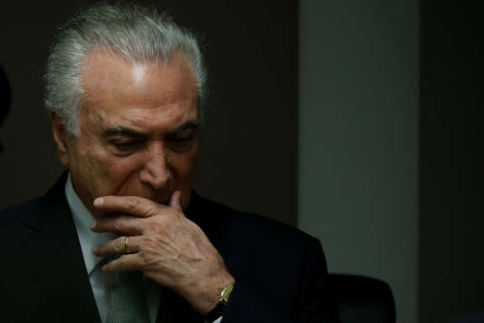 Le président brésilien Michel Temer, le 14 décembre à Brasilia.