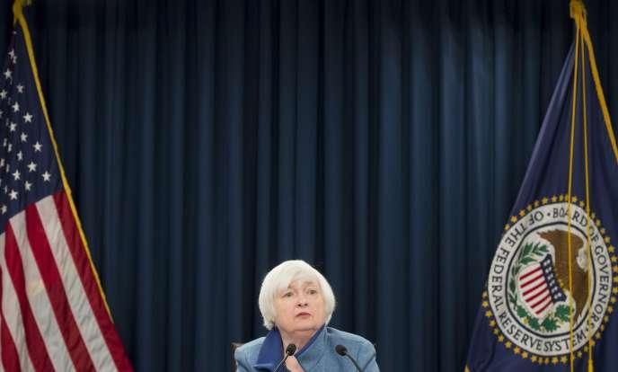 Janet Yellen, la présidente de la Réserve fédérale américaine, mercredi 14 décembre.