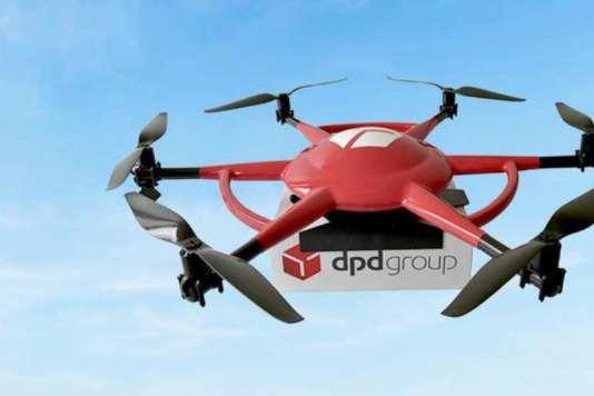 L'hexacoptère de DPD Group (La Poste) peut embarquer jusqu'à 3kg de charge utile