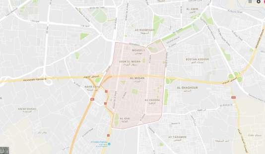 Le quartier d'Al-Midan, à Damas.