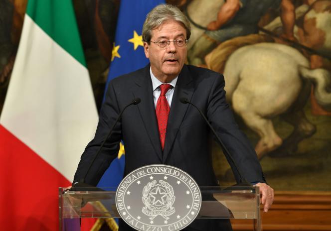 Paolo Gentiloni, le nouveau président du conseil italien, le 16 décembre.