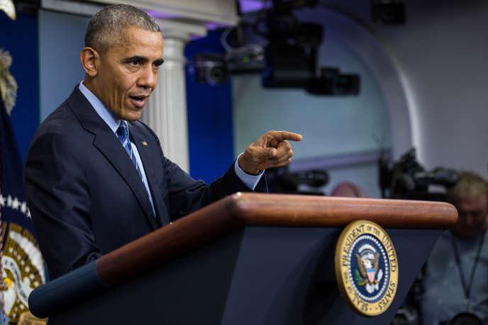 Barack Obama à la Maison Blanche le 16 décembre.