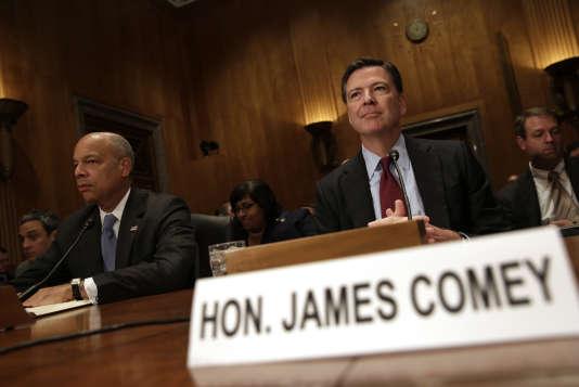 James Comey, le directeur du FBI, au Sénat américain le 27 septembre 2016.