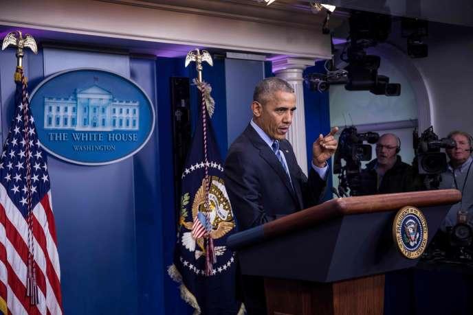 Barack Obama, le 16 décembre.