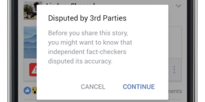 L'avertissement que montrera Facebook à ses utilisateurs avant qu'ils ne partagent un article considéré comme faux ou trompeur par des fact-checkers indépendants.