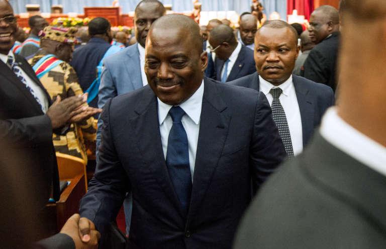 Le président congolais, Joseph Kabila, le 15 novembre 2016 à Kinshasa.
