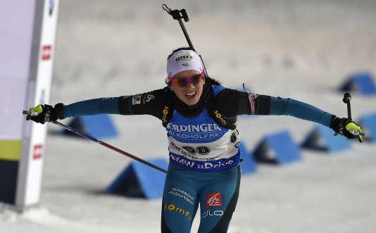 Anaïs Chevalier a remporté la poursuite individuelle samedi à Nove Mesto.