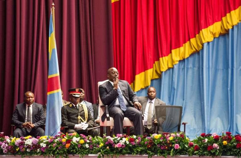 Joseph Kabila, le 16 novembre, devant le Parlement congolais, à Kinshasa.