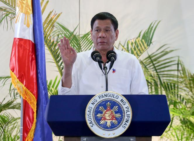Le président des Philippines, Rodrigo Duterte, lors d'une conférence de presse le17décembre 2016.