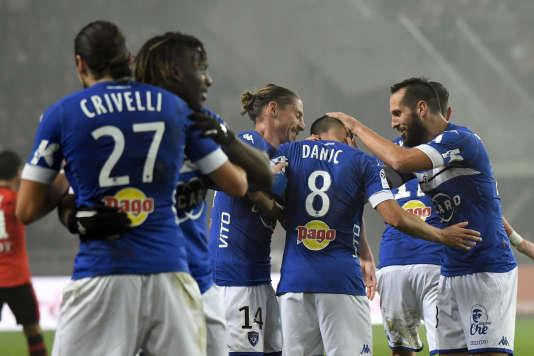 Bastia s'est imposé 2-1 à Rennes samedi.