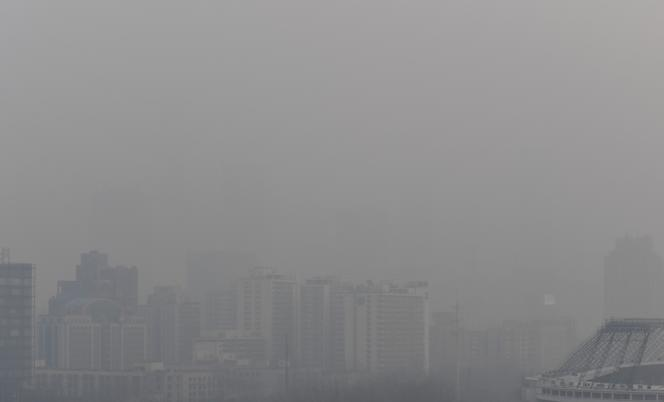 A Pékin lors d'un pic de pollution, en décembre.