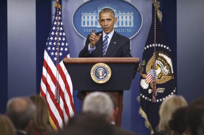 Le président américain, Barack Obama, lors de sa dernière conférence de presse de l'année à la Maison Blanche, le 16 décembre.