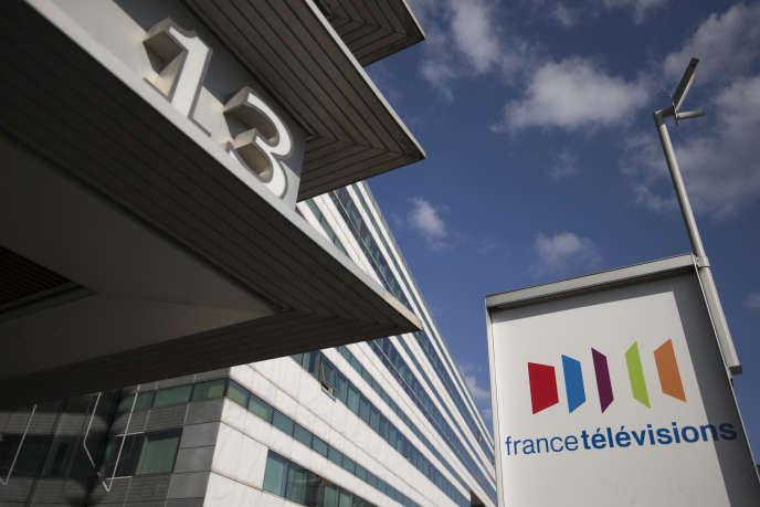Au siège de France Télévisions, à Paris, en avril.