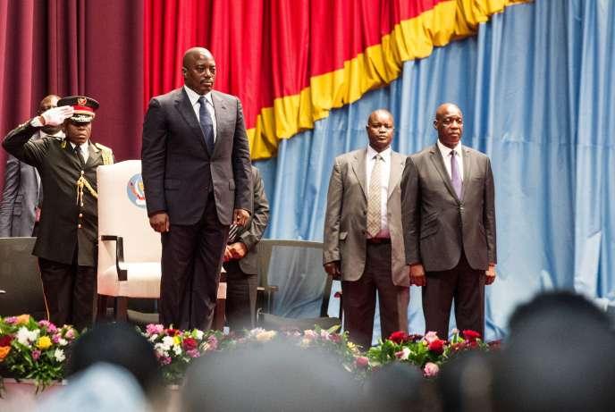 Joseph Kabila, le 15 novembre, devant le Parlement congolais, à Kinshasa.