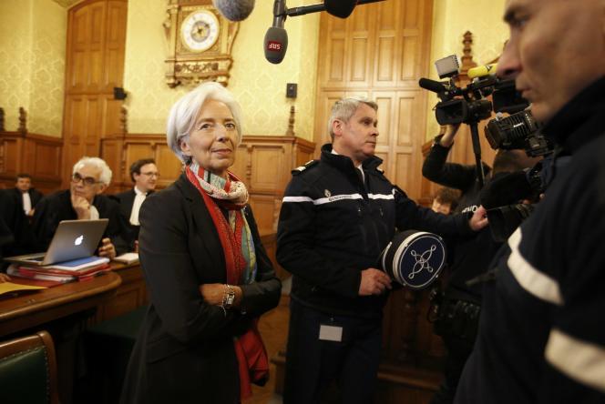 La directrice générale du FMI, Christine Lagarde, devant la Cour de justice de la République, le 12 décembre.