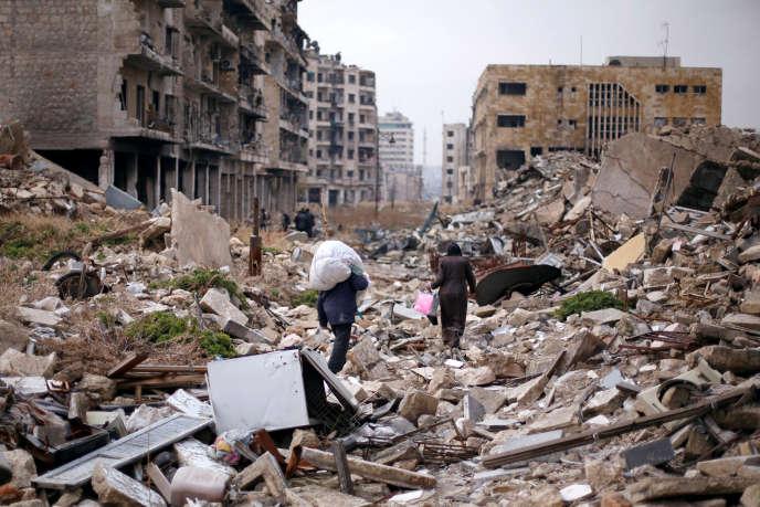Alep, en Syrie, le 17 décembre 2016.
