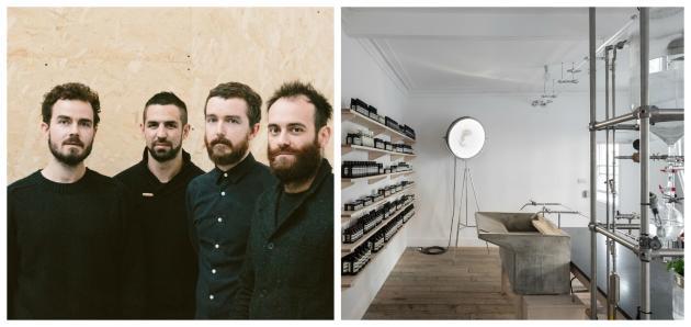 Les membres fondateurs du collectif d'architectesCiguë, qui dessine notamment les boutiques d'Aesop.