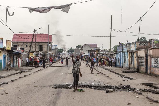 Dans un des faubourgs de Kinshasa, le 20 décembre.