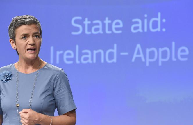 La commissaire européenne à la concurrence, Margrethe Vestager, le 30août, à Bruxelles.