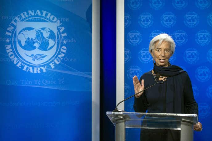 L'ancienne ministre des finances, Christine Lagarde, le 19 décembre.