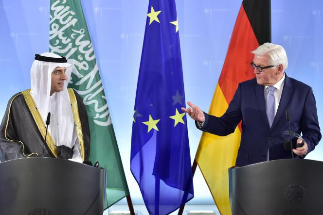 « Quand j'ai écrit une lettre ouverte à l'administration des Etats-Unis, le gouvernement de Bahreïn a porté de nouvelles plaintes contre moi pour atteinte à la réputation du pays» (Photo: le ministre des affaires étrangères allemand Frank-Walter Steinmeier et son homologue saoudien Adel al-Jubeir à Berlin le 25 mai).