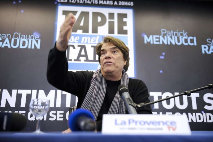 Bernard Tapie à Marseillele 12 mars 2014.
