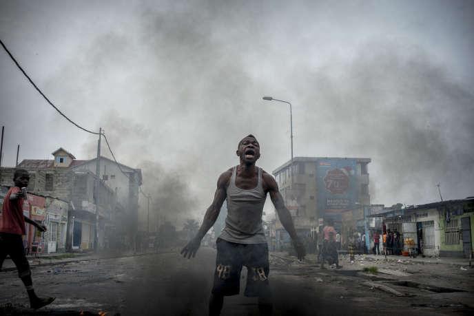 Dans le quartier populaire de Lemba, à Kinshasa, le 20 décembre.