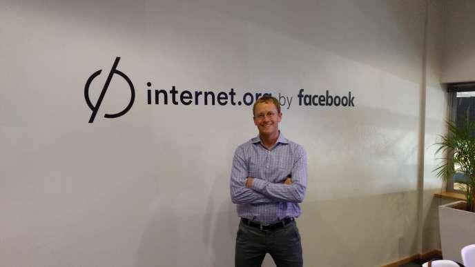 Chris Daniels, vice-président de l'initative Internet.org, à Cape Town (Afrique du Sud) le 12 décembre 2016. Internet.org a été lancé par Facebook afin de permettre l'accès à Internet dans les pays en développement.