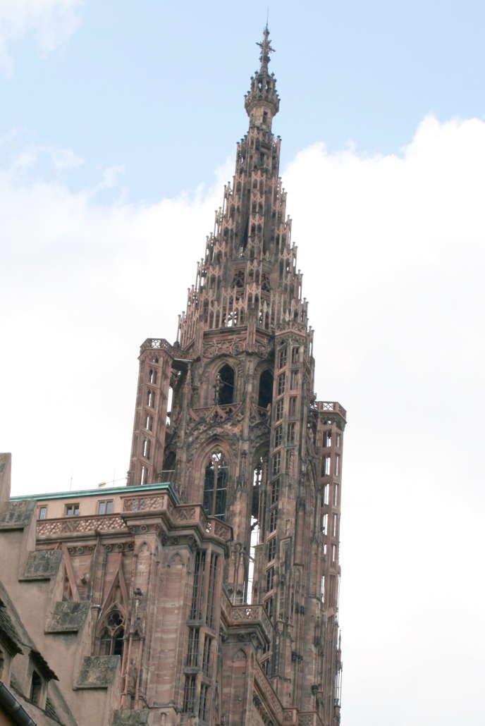 La flêche de la cathédrale de Strasbourg.