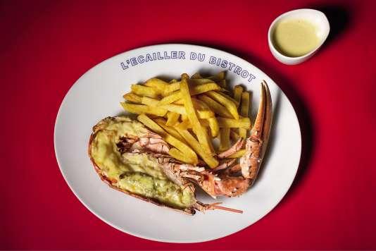 Le homard frites de Bertrand Auboyneau.