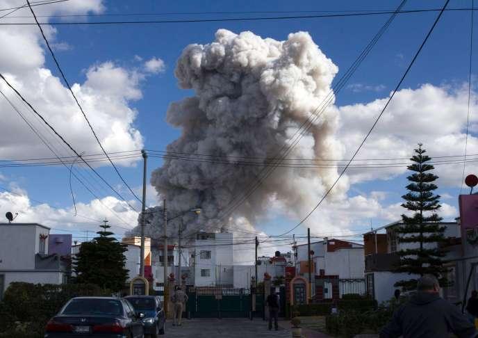 Explosion au marché deTultepec, le 20 décembre.