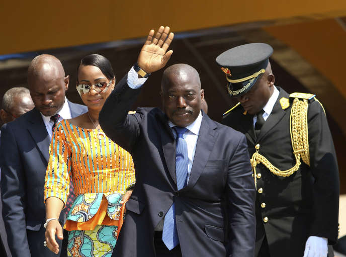 Joseph Kabila, le 30 juin à Kindu, en République démocratique du Congo. John Bompengo/AP