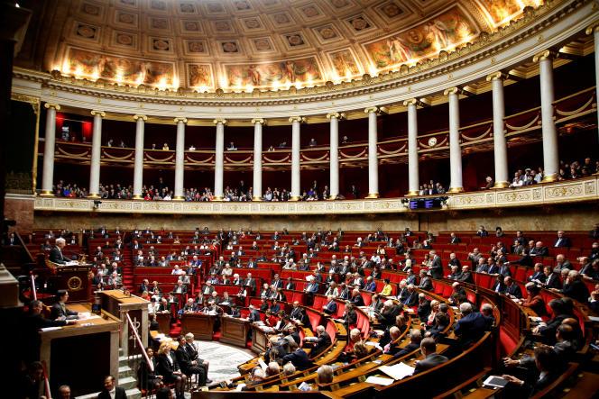 L'hémicycle du Palais-Bourbon, en novembre 2016.