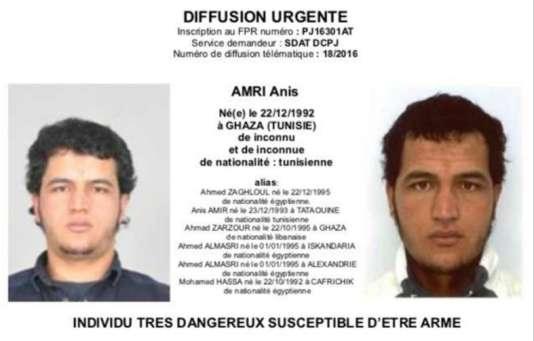 Avis de recherche lancé contre l'homme suspecté d'être en lien avec l'attentat de Berlin.