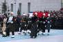 Cérémonie en hommage à l'ambassadeur russe Andreï Karlov sur le tarmac de l'aéroport Esenboga, à Ankara, le20décembre2016, précédant la répatriation de son corps en Russie.