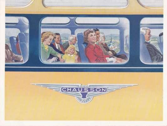 Brochure vantant les mérites de l'autocar AP48 de 1950,« tout le confort du grand tourisme».