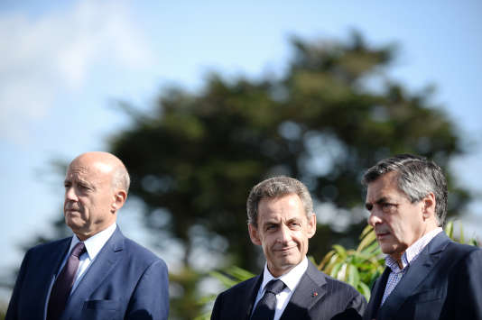 Alain Juppé, Nicolas Sarkozy et Francois Fillon, le 5 septembre 2015.