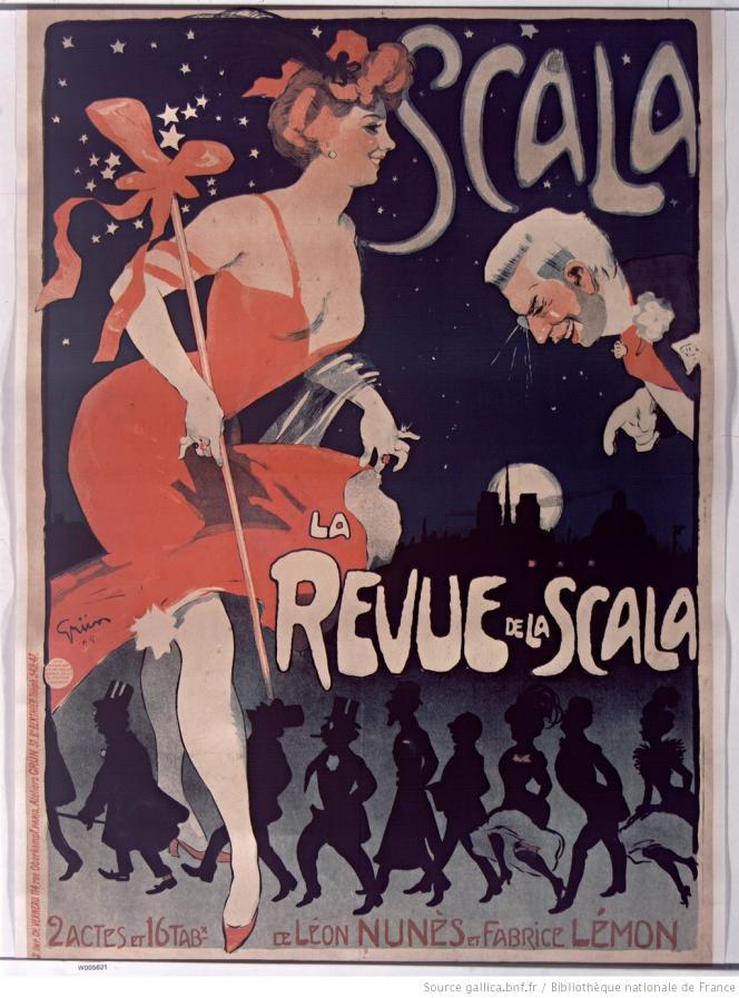 La Revue de la Scala : affiche de Jules-Alexandre Grün (1905).