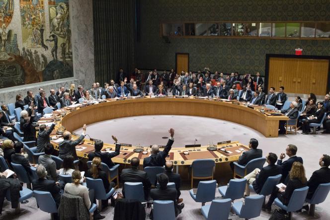 Le Conseil de sécurité de l'ONU lors du vote de la résolution 2334, à New York, le 23 décembre.