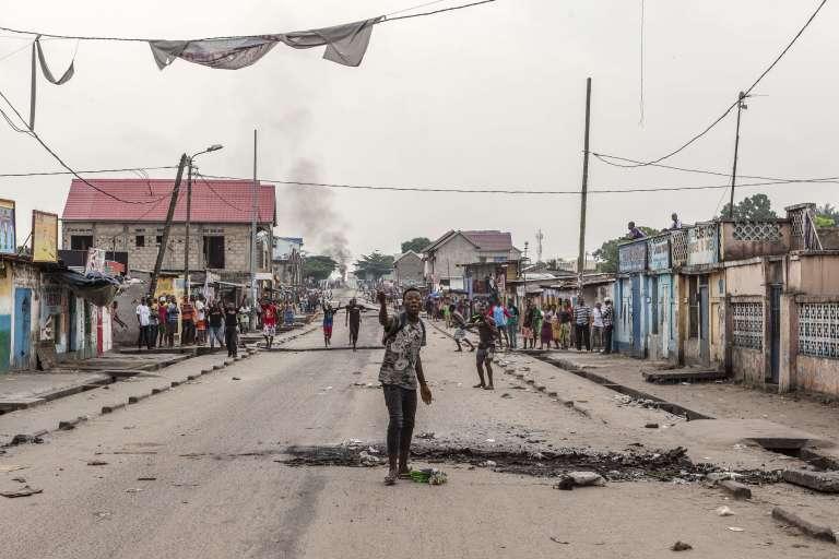 Dans le quartier de Yolo, à Kinshasa, le 20décembre.