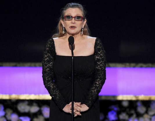 Carrie Fisher lors des Screen Actors Guild Awards en janvier 2015.