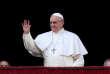 Le pape François à l'occasion de son traditionnel message de Noël sur la place Saint-Pierre, au Vatican, le dimanche 25 décembre.