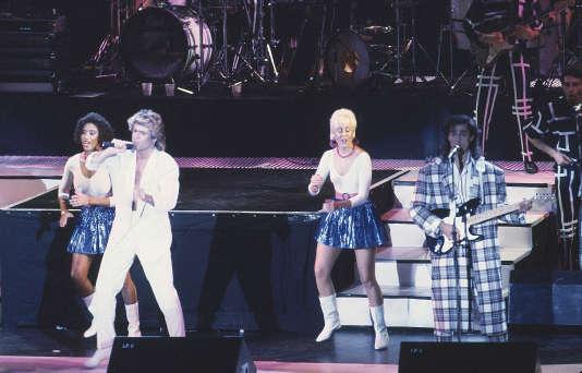 Wham! sur scène à Pékin le 7 avril 1985.