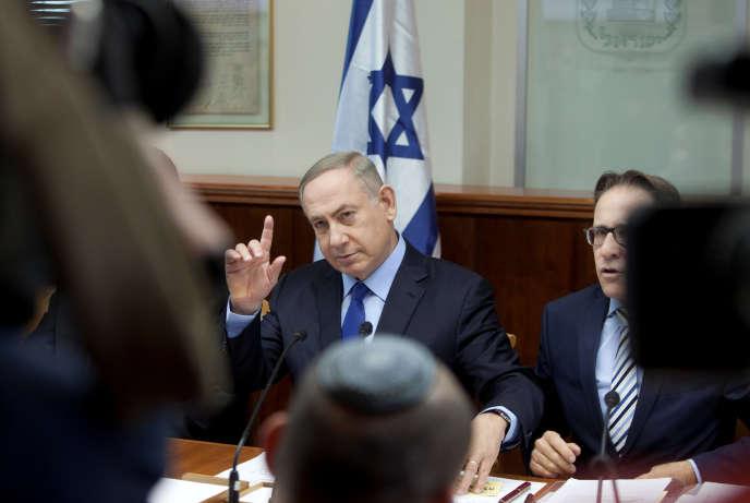 Le premier ministre israélienBenyamin Nétanyahou, le 25 décembre, à Jerusalem.